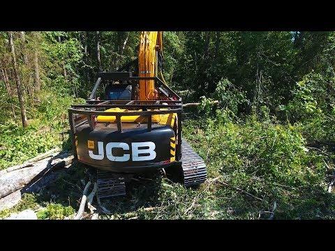 Харвестер на базе JCB JS220 в Тверской области — истории заказчиков JCB