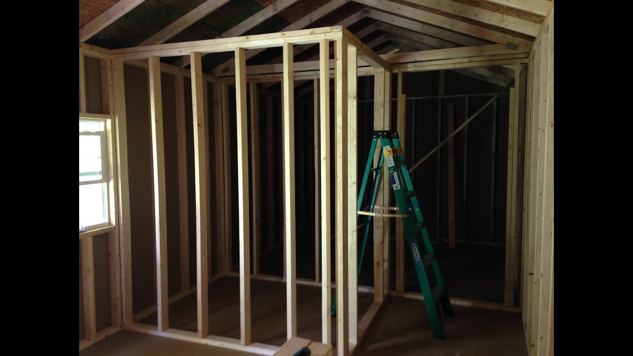 final framing interior walls of the tiny house st bernard acres