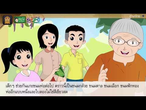 แผนภาพโครงเรื่อง ขนมไทยไร้เทียมทาน - สื่อการเรียนการสอน ภาษาไทย ป.4
