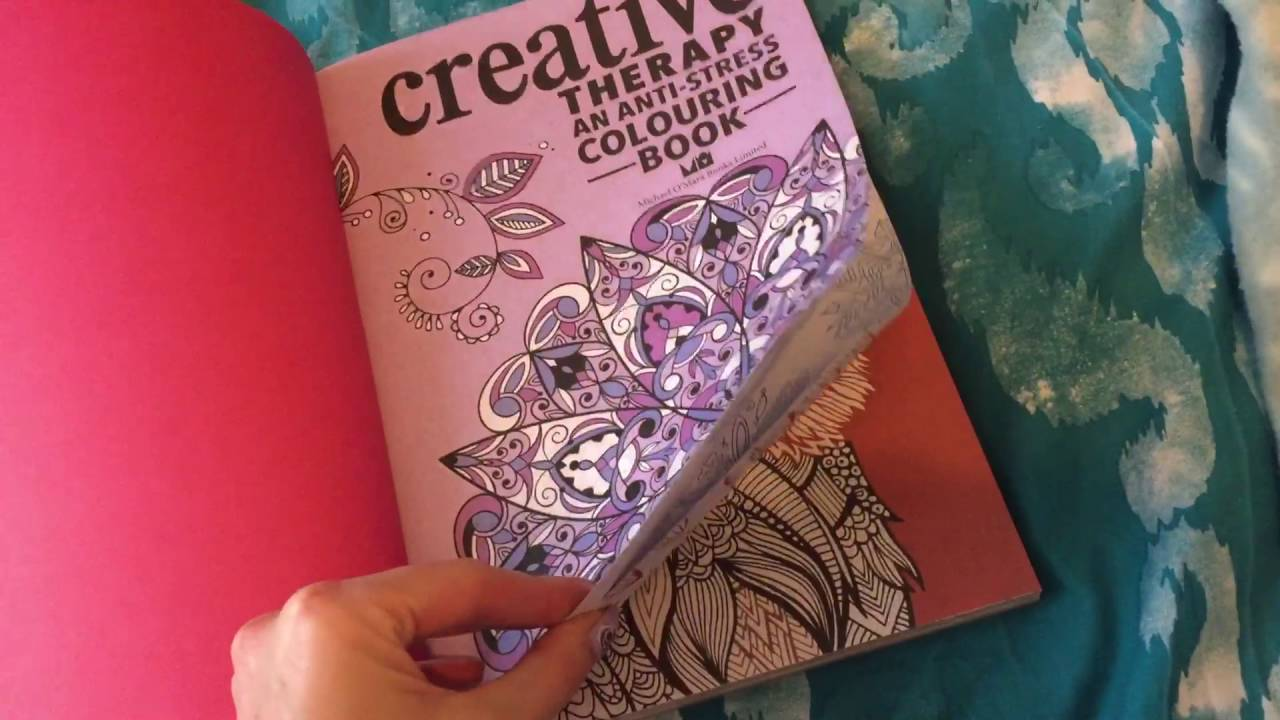 Creative anti stress colouring book - Creative Therapy An Anti Stress Colouring Book Flip Through