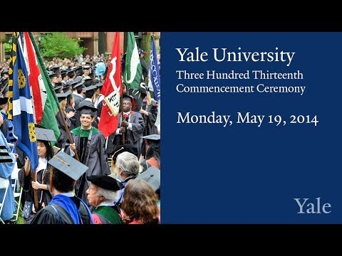 Yale Commencement Ceremony 2014