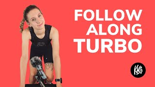 "LIVE TURBO SESSION  - 4 x 3 min ""race winner"" cycling intervals - Cycle with me!"