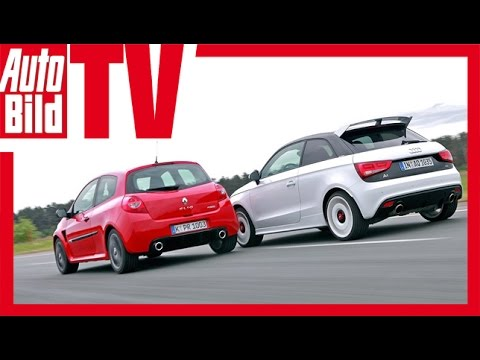 audi a1 quattro vs renault clio rs youtube. Black Bedroom Furniture Sets. Home Design Ideas