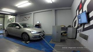 VW Golf 7 tdi 150cv DSG Reprogrammation Moteur @ 194cv Digiservices Paris 77 Dyno