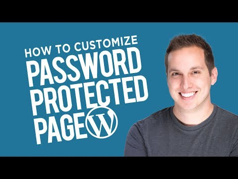 How To Customize A Password Protected Page In Wordpress