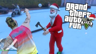 GTA 5 Next Gen Fun - Christmas DLC, Snowball Robbery, Tractor Glitch (GTA V Funny Moments)