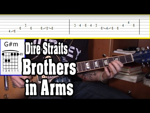 Dire Straits - Brothers in Arms Guitar Tutorial w/TABS
