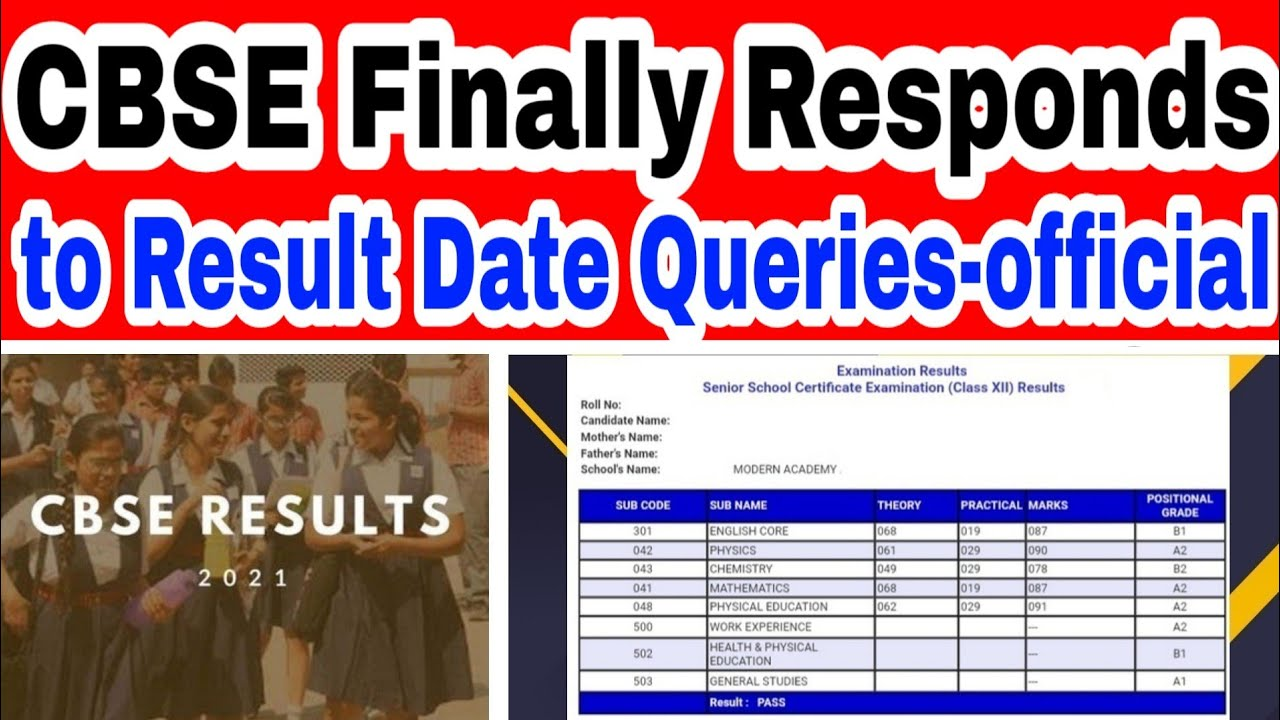 CBSE Finally Replied to Result Date Queries / 10th & 12th 2021 (Meme)