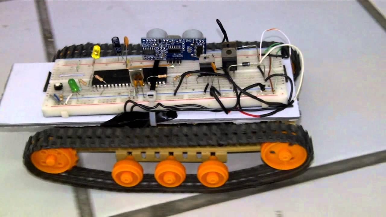 Robot oruga guia con sensores ultrasonicos pic hd doovi