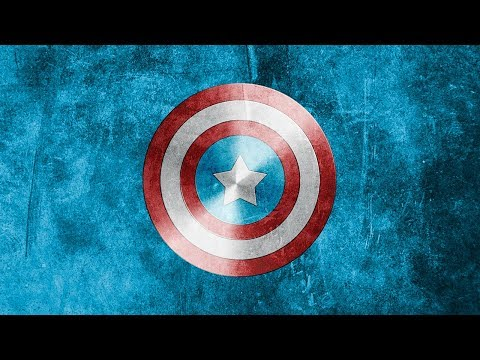 Captain America shield Avengers in photoshop tutorial thumbnail