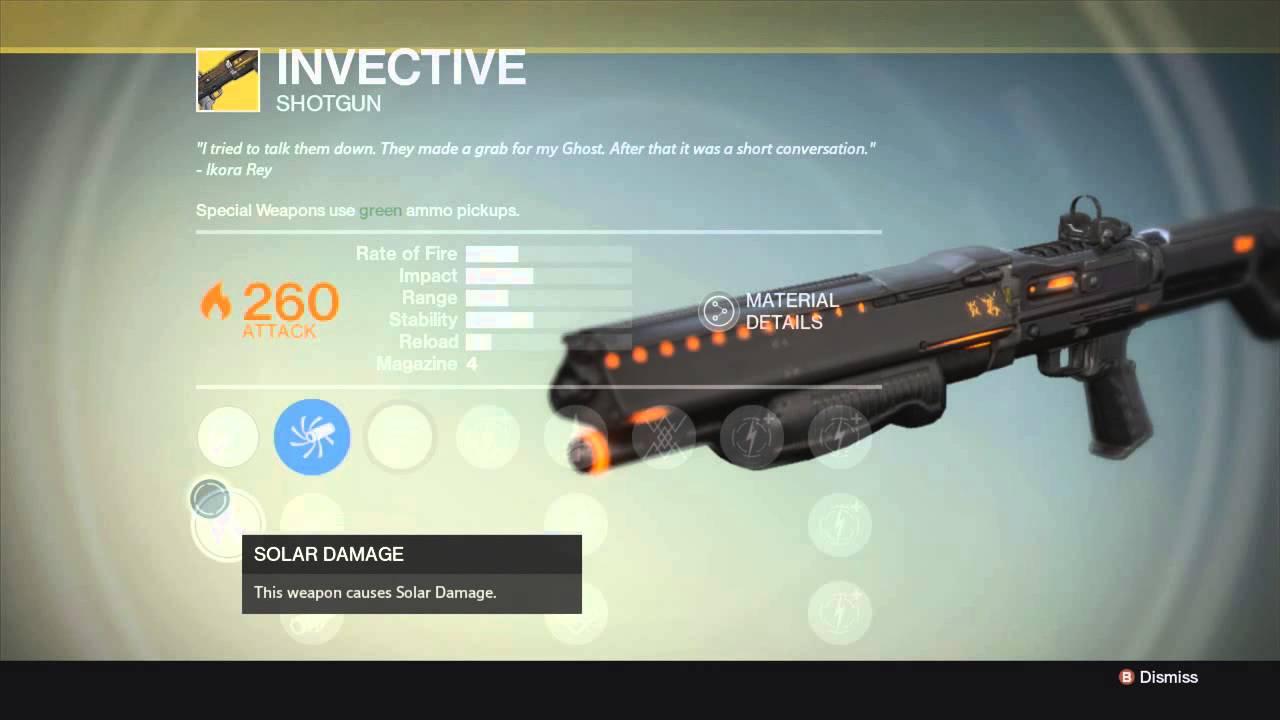 Destiny new exotic weapon invective shotgun best shotgun in destiny
