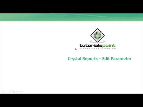 SAP Crystal Reports - Edit Parameter Field