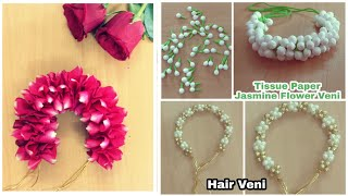 3 Different Styles Veni Making At Home | DIY | Hair accessories