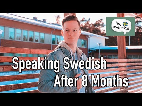 American Speaking Swedish On Camera (After 8 Months In Sweden)