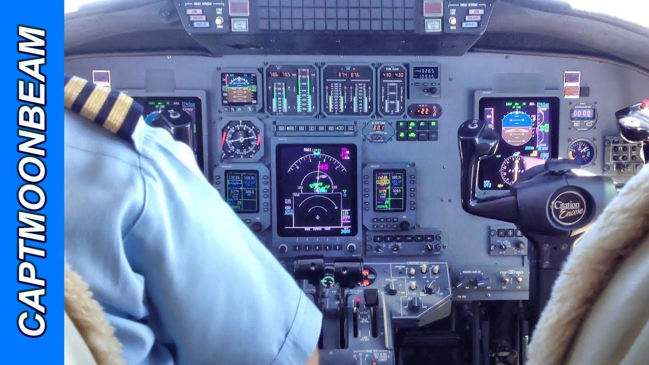 Traffic Traffic Cessna Citation Landing Cockpit And Tcas Alert Video