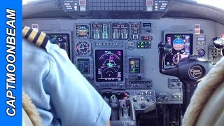 TRAFFIC! TRAFFIC! Cessna Citation Landing Cockpit and TCAS Alert Video