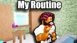 My Daily Routine in BloxBurg! • Roblox