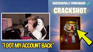 TFUE GETS HIS SKINS BACK AND STARTS CRYING *SAD* *HATES EPIC* | Fortnite Funny Moments
