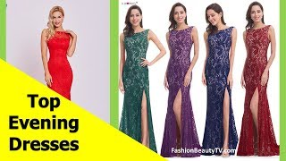 Top 50 beautiful Evening dresses with sleeves, long evening dresses for women S1
