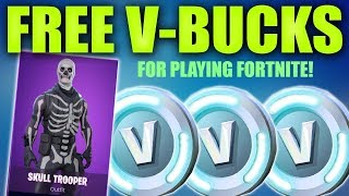 HOW TO GET FREE V BUCKS FOR PLAYING FORTNITE (No survey or human verification)