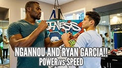 FRANCIS NGANNOU tests his POWER against the SPEED of RYAN GARCIA!!