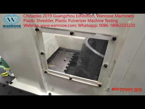 Chinaplas 2019 Guangzhou Exhibition, Plastic Pulverizer, Plastic Shredder Machine