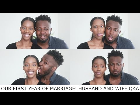 OUR FIRST YEAR OF MARRIAGE! | COUPLES Q&A