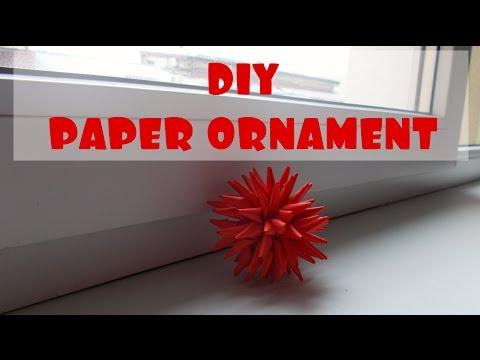 DIY paper ornament | Easy paper craft | Easy DIY project | Maison Zizou
