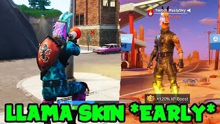 Comment obtenir la peau de lama EARLY In Fortnite Battle Royale! (Get Llama Skin Before Start Of SEASON 6)