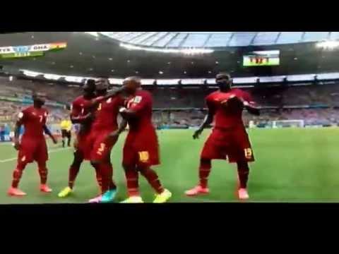 Ghana's second goal against Germany. Germany 1-2 Ghana