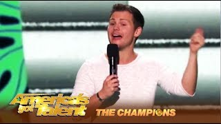 Drew Lynch: The STUTTERING Comedian Is Back For a Rematch Battle! | America's Got Talent: Champions