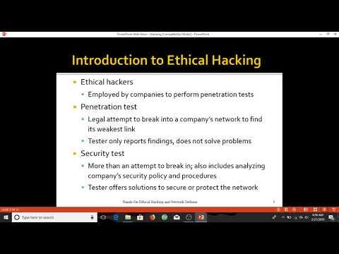 BASIC INTRODUCTION OF ETHICAL HACKING 01
