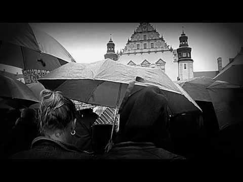Black protest in Poznań 3.10.2016  (black and white)