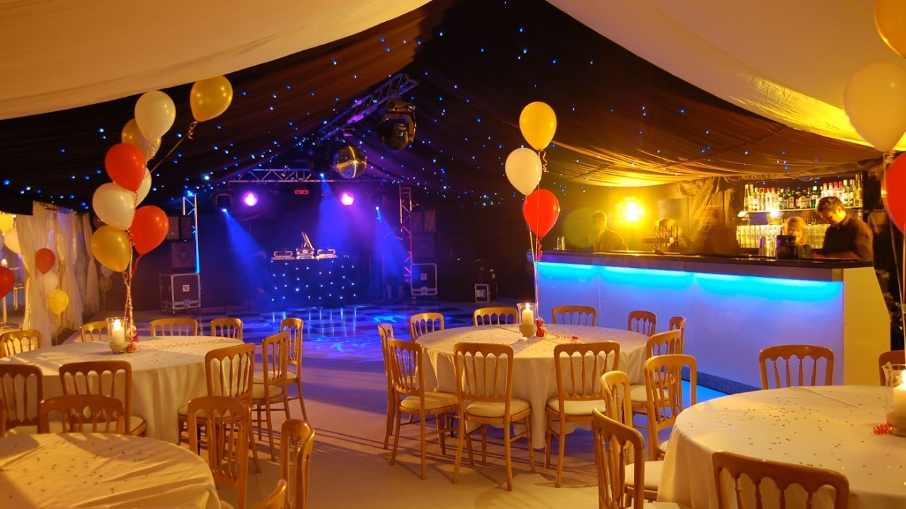 40th birthday party in a marquee on a tennis court ideas by