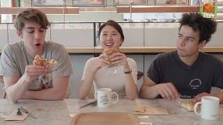 French Guys Try Korean-French Bakery