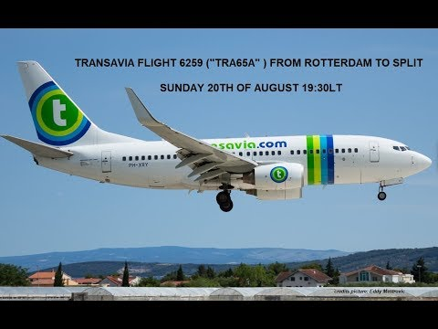 TRA65A scheduled flight from Rotterdam The Hague Airport (EHRD) to Split in Croatia (LDSP)
