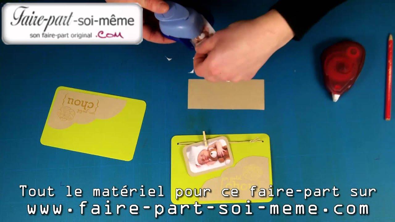 Souvent Faire-part de Naissance à faire soi-même Petit Chou - YouTube NU08