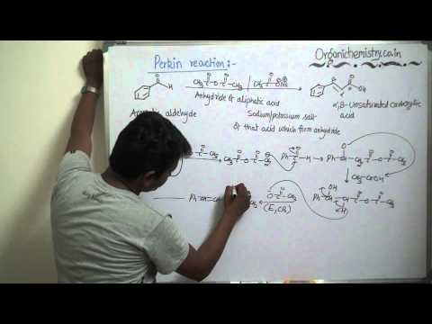 Basic mechanism behind Perkin Reaction by AKG - YouTube