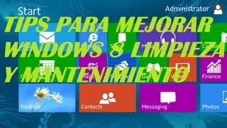 tips para mejorar rendimiento en windows 8