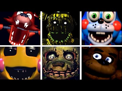 Five Golden Nights at Freddy's 2: All Jumpscares