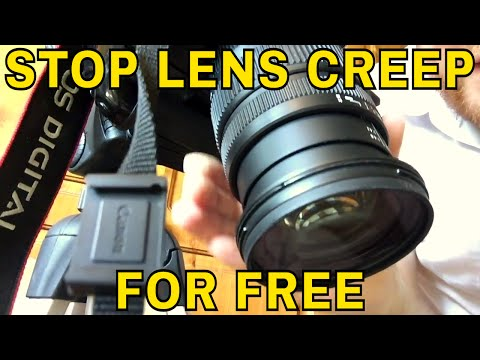 How to Stop Lens Creep for Free Using a Rubber Band