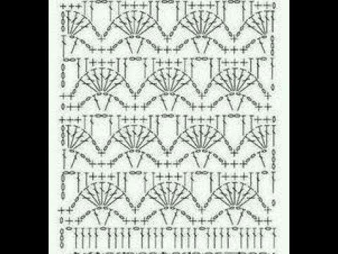 32. Muster für Schal Stola - YouTube