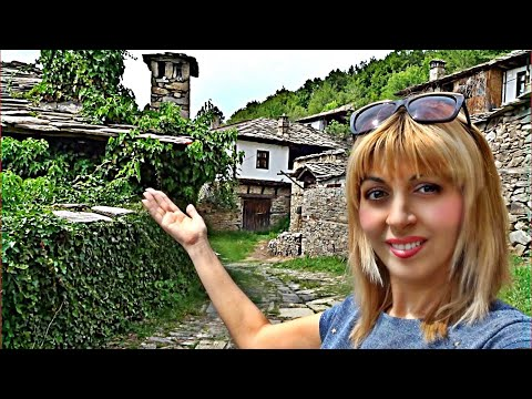 Life in BULGARIA, Real Traditional Bulgarian Village, Made of Stone and Wood, KOVACHEVITSA