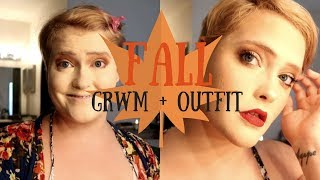 GET READY WITH ME! || FALL MAKEUP & PLUS SIZE OOTD