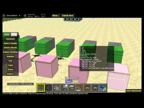 [Návod] [MCEdit] Barevné písmo v command blocích