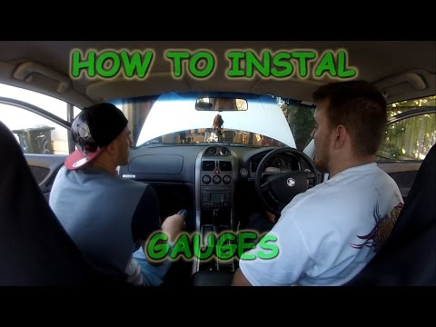 Oz Mods - How to install gauges in a Holden commodore