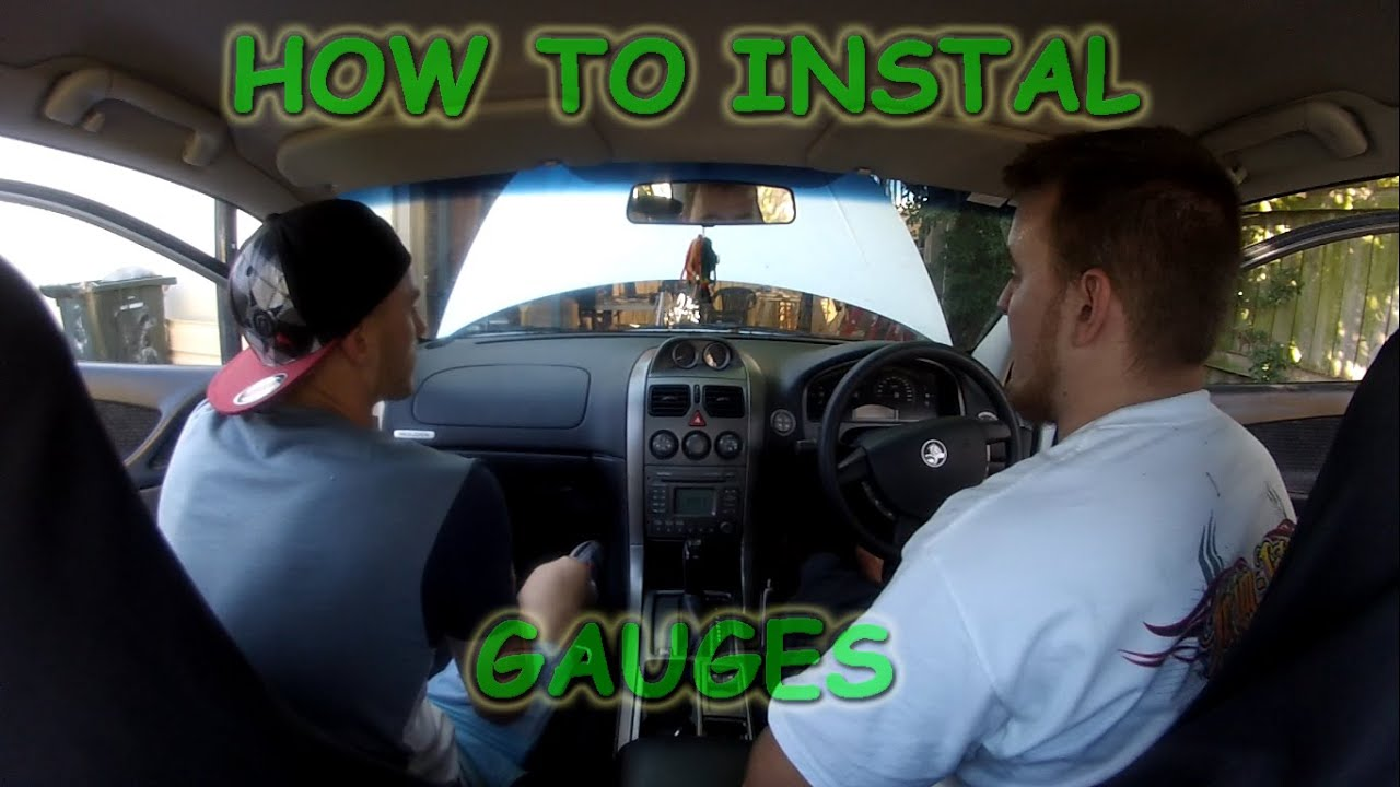 vz binnacle gauge wiring diagram 22re oz mods how to install gauges in a holden commodore youtube