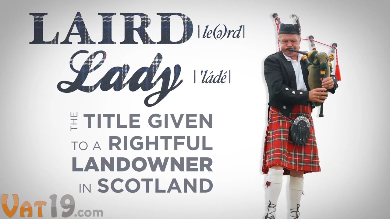 LAIRD OR LADY BECOME A SCOTTISH LORD UNIQUE GIFT IDEA
