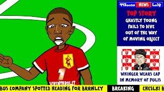 🐥ASHLEY YOUNG BIRD POOP🐥 Man Utd v Swansea 1-2 2014 (Bird poos in mouth Man Utd)