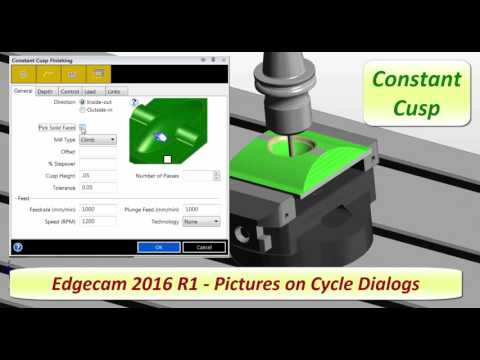 Edgecam 2016R1 | Images on Cycle Dialogs